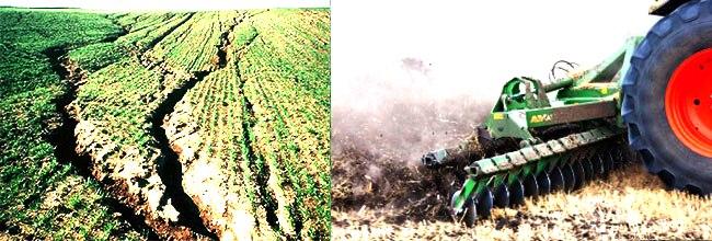 Эрозия почв, трактор. Применение удобрения Байкал-эм 1