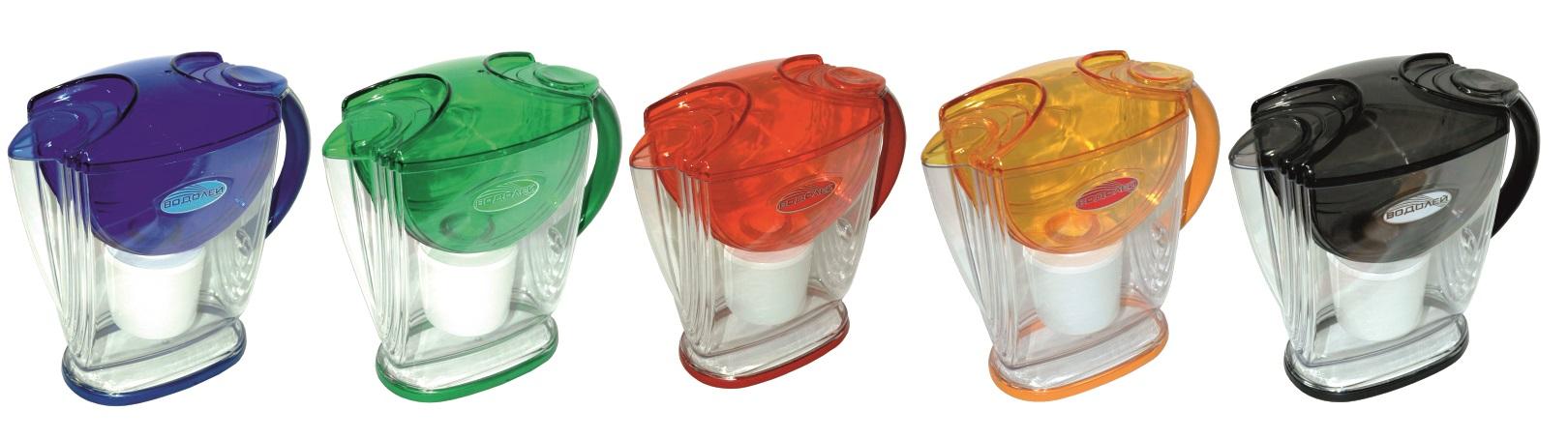 Фильтры водолей разного цвета